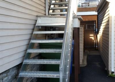 Fabricant escalier métallique extérieur et escalier métallique intérieur à Québec | Métal Gilles Allard